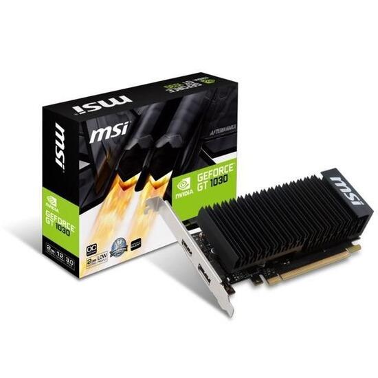 MSI GeForce GT 1030 2GH LP OC Silent Fanless Graphics Card