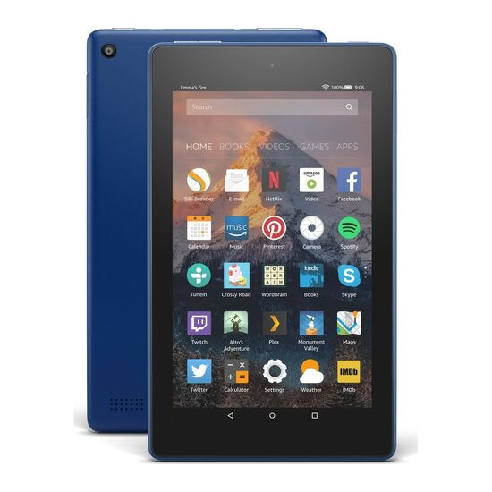 AMAZON Fire 7 Tablet with Alexa (2017) - 16 GB, Marine Blue