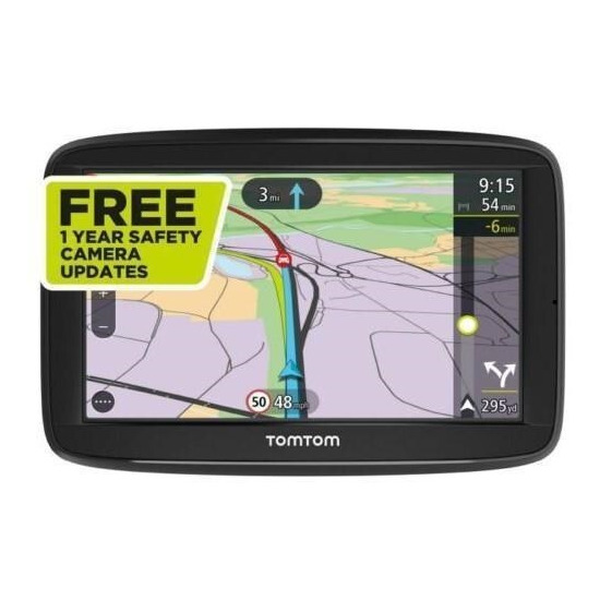 TomTom Via 52 Sat Nav with Lifetime Western Europe Maps - Unlimited Traffic - FREE 12-months Camera alerts - FREE Carry Case