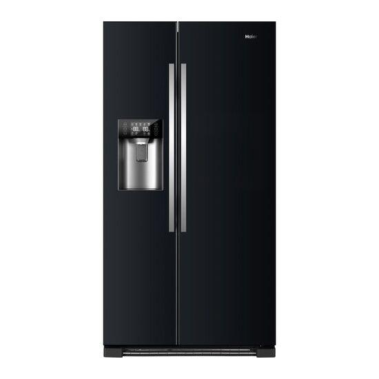 Haier HRF-630IB7 American-Style Fridge Freezer - Pure Black