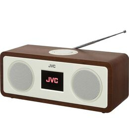 JVC RA-D77M DAB+/FM Bluetooth Clock Radio - Wood & Cream Reviews