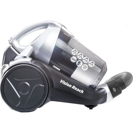 Hoover BF81VS02 Vision Reach Cylinder Bagless Vacuum Cleaner - Titanium