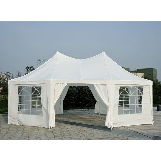 Outsunny Large Octagonal Party Tent Gazebo Marquee 6.8x5m
