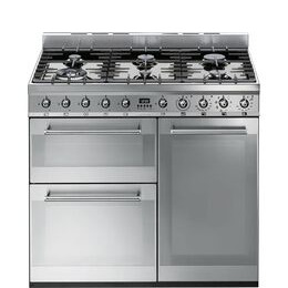 SMEG Symphony 90 cm Dual Fuel Range Cooker Stainless Steel Reviews
