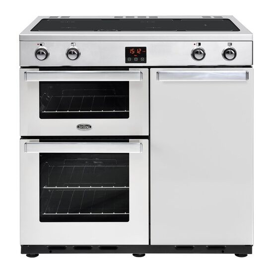 Belling Gourmet 90Ei Professional Electric Induction Range Cooker Stainless Steel