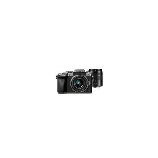 Panasonic DMC-G7 Mirrorless Camera in Silver + 14-42mm + 45-150mm Lenses
