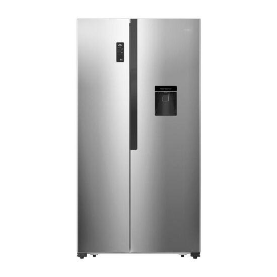 LOGIK LSBSDX17 American-Style Fridge Freezer - Innox
