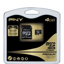 PNY microSDHC Premium Memory Card with SD Adapter - 4GB Reviews