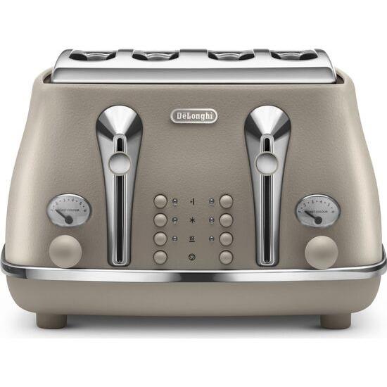 DELONGHI Elements CTOE3001.BG 4-Slice Toaster - Beige