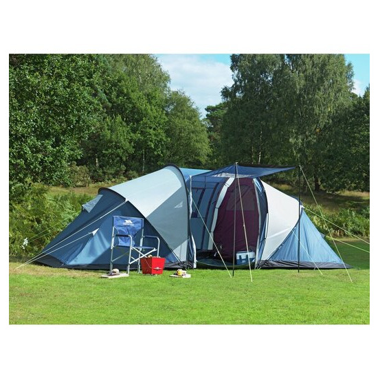 Trespass Go Further 6 Man Tent with Carpet