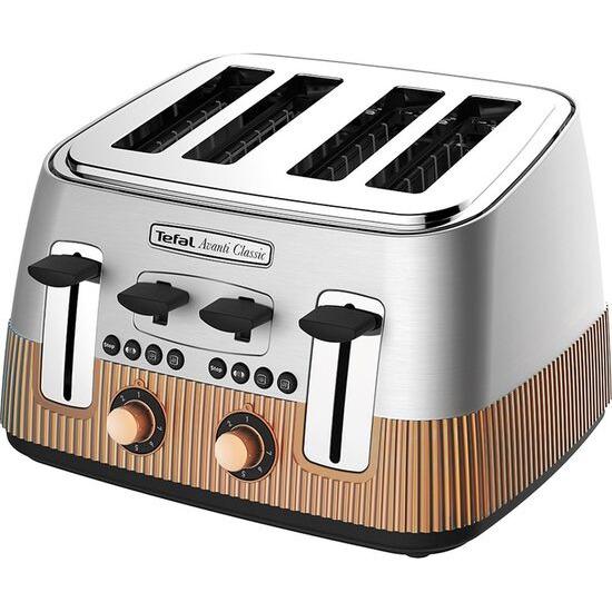 Tefal Avanti Classic TT780E40 4-Slice Toaster - Silver