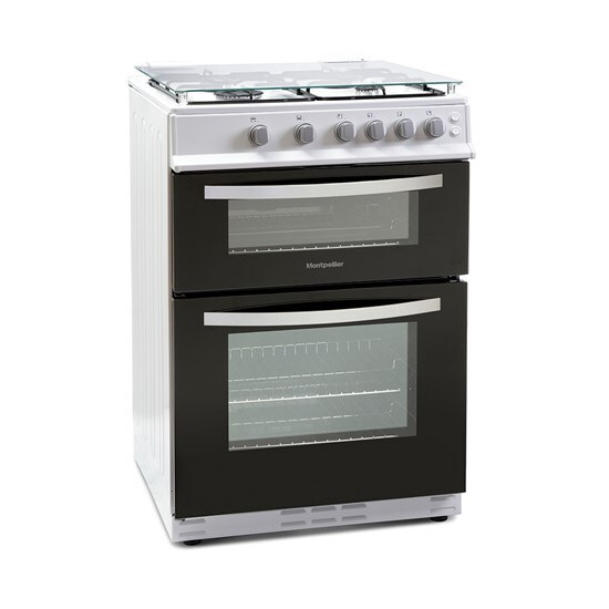 Montpellier MTG60LW 60cm Twin Cavity Gas Cooker