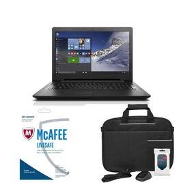 Lenovo IdeaPad 110 15.6 Laptop LiveSafe Unlimited 2017 & Accessories Bundle