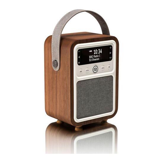 Monty Portable DAB+/FM Retro Bluetooth Radio - Walnut