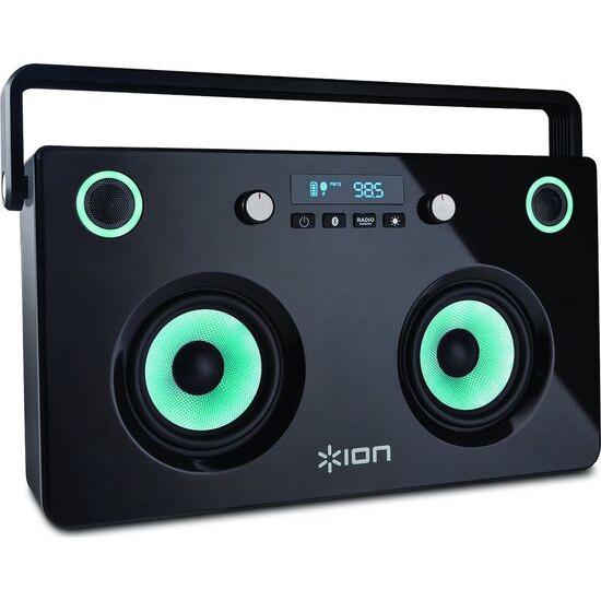ION Spectraboom Portable Boombox with Lights, USB Bank & radio