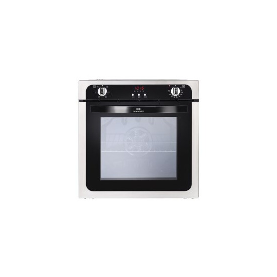 New World NW602FP 73L Fanned assisted Electric Single Oven With Programmable Timer Stainless Steel
