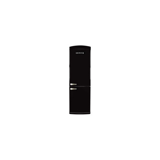 Servis C60185NFB Retro Right Hand Hinge Freestanding Fridge Freezer Black