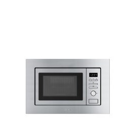 SMEG FMI017X Stainless Steel 17 litre Built Microwave Oven with Grill complete with Frame Reviews