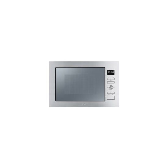 SMEG FMI025X Stainless Steel Built Microwave Oven with Grill complete with Frame 25 Litres