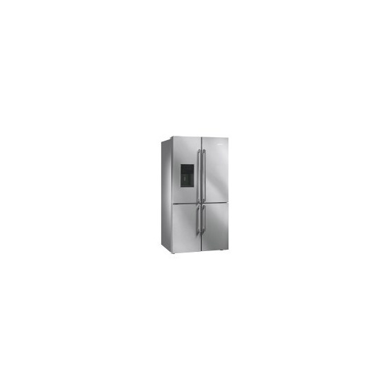 SMEG FQ75XPED Stainless Steel 4-Door American Fridge Freezer With Convertible Compartment And Ice And Water Dispenser
