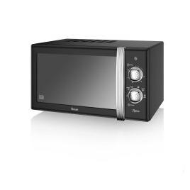 Swan SM22130BN 20L Retro Manual Microwave Black Reviews
