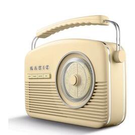 AKAI A60010CDABBT Portable DAB+/FM Retro Bluetooth Clock Radio - Cream Reviews