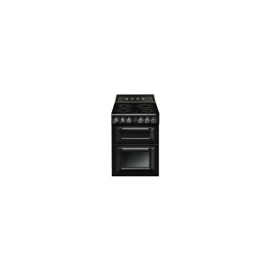SMEG TR62IBL Victoria Double Cavity 60cm Wide Electric Cooker With Induciton Hob