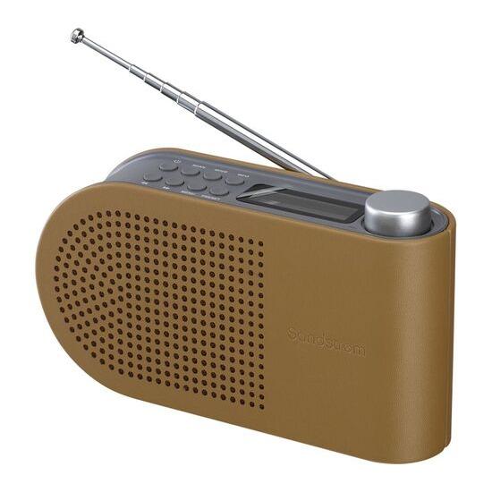 SANDSTROM SPLDAB17 Portable DAB Radio - Leather & Grey