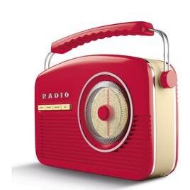 AKAI A60010RDABBT Portable DAB+/FM Retro Bluetooth Clock Radio - Red Reviews