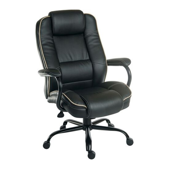Goliath Duo Bonded Leather Reclining Executive Chair - Black