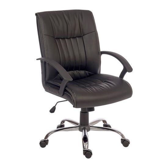 Teknik Milan Leather-look Reclining Executive Chair - Black