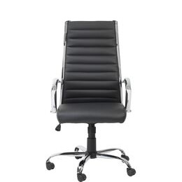 ALPHASON Hartford Leather-look Tilting Executive Chair - Black