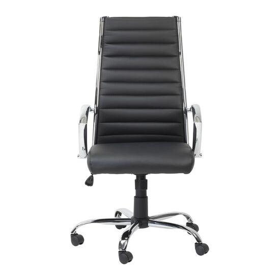 ALPHASON Hartford Leather-look Tilting Executive Chair - Black