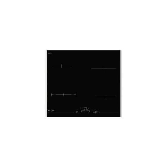 Sharp KHCFT60 60cm Four Zone Ceramic Hob - Black