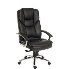 Teknik Skyline 9413086 Leather Tilting Executive Chair - Black Reviews
