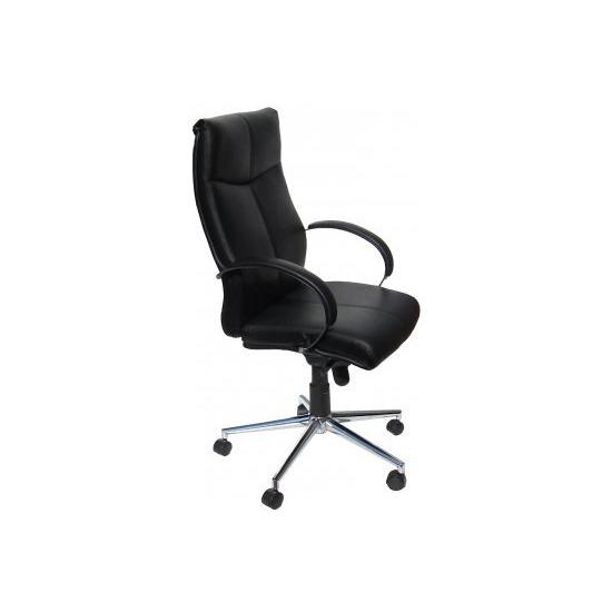 ALPHASON Verona AOC1019BLK Leather Tilting Executive Chair - Black