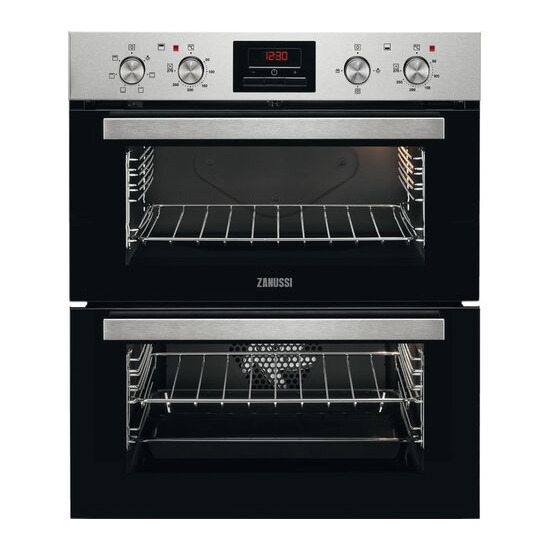 Zanussi ZOF35611XE Electric Double Oven Stainless Steel and