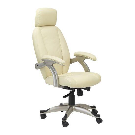 ALPHASON Bentley AOC6355-L-CR Leather Tilting Executive Chair - Cream