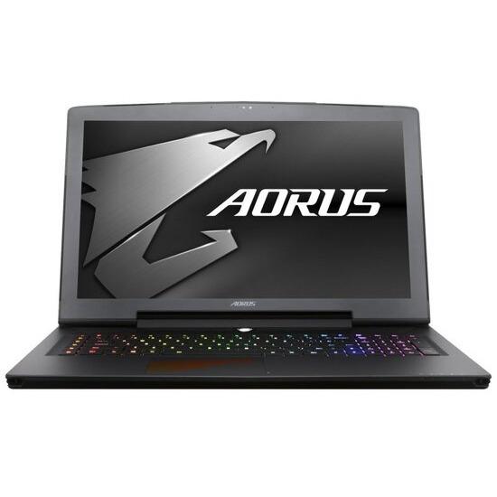 Aorus X7 DT V7-CF2 Gaming Laptop Intel Core i7 7820HK 2.9GHz 16GB DDR4 1TB HDD 256GB SSD 17.3 QHD 2560x1440 No-DVD NVIDIA GTX 1080 8GB WIFI Webcam Bluetooth Windows 10 Home
