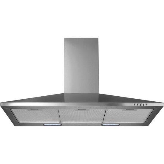 LOGIK L90CHDX17 Chimney Cooker Hood - Stainless Steel