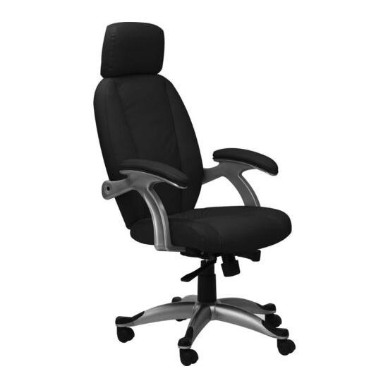 ALPHASON Bentley AOC6355-L-BLK Leather Tilting Executive Chair - Black