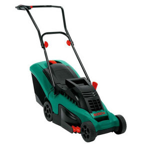 Photo of Bosch Rotak 34 Rotary Lawn Mower Garden Equipment
