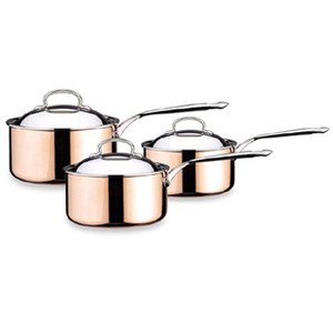 Photo of Tri Copper 3 Piece Professional Pan Set Cookware