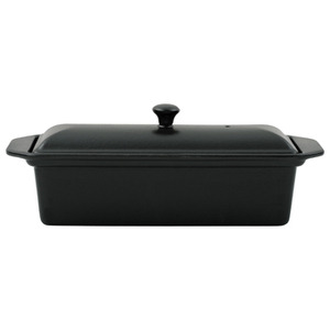 Photo of Matt Black Chasseur Pate Terrine Dish 28CM Cookware