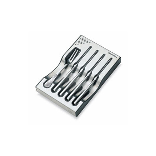 Global G-88/4012 8 Piece steak Knife and Fork Set