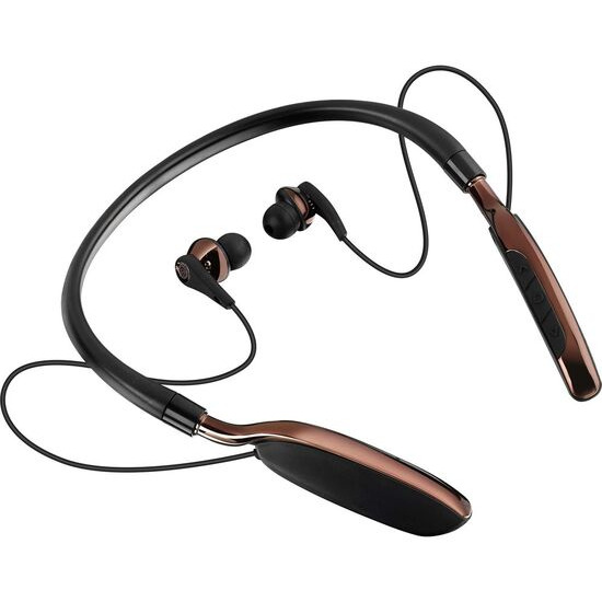 Goji GTCNBBT17 Wireless Bluetooth Headphones - Black & Brown