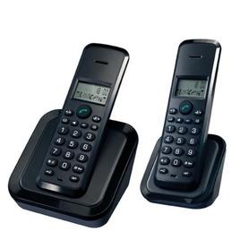 CURRYS ESSENTIA C22DECT10 Digital Cordless Telephone - Black, Twin Pack