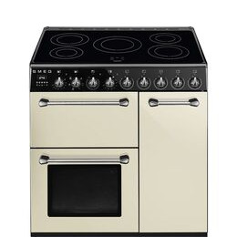 SMEG Blenheim BM93IP 90 cm Electric Induction Range Cooker - Cream & Black