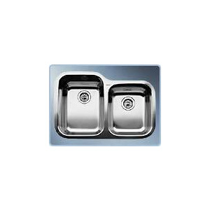 Photo of BLANCOSUPREME 735-U Undermount Double Sink Kitchen Sink