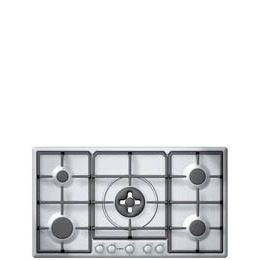 90cm 5 Burner Gas Hob - Brushed Steel Reviews